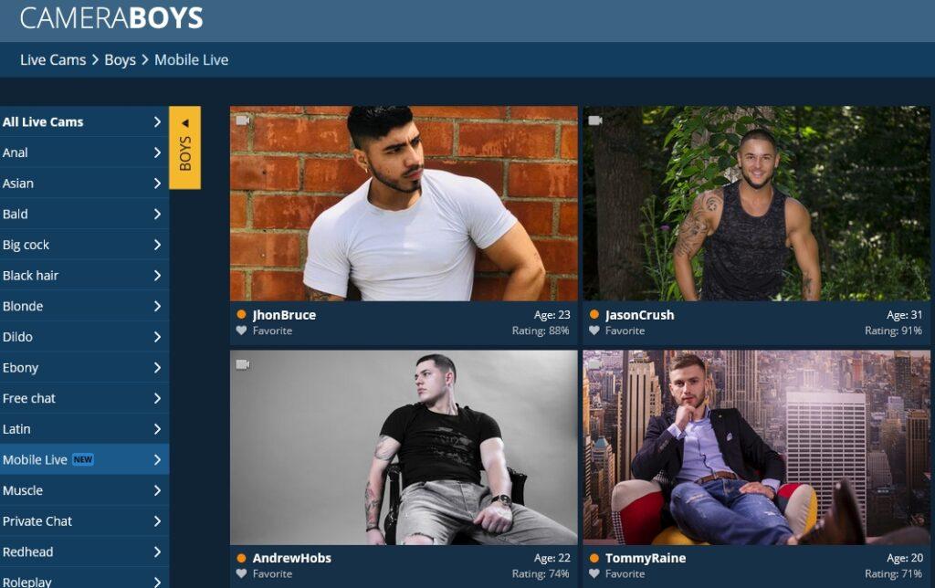 Cameraboys homepage